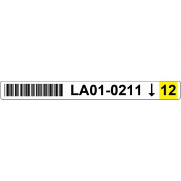 22mm x 220mm Blank Shelving Labels YELLOW