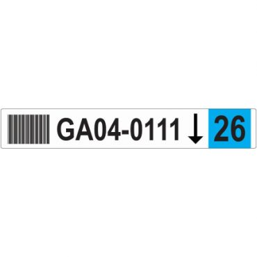 50mm x 326mm Blank Racking Labels BLUE