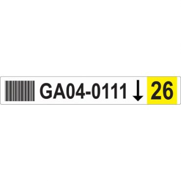 50mm x 326mm Blank Racking Labels YELLOW