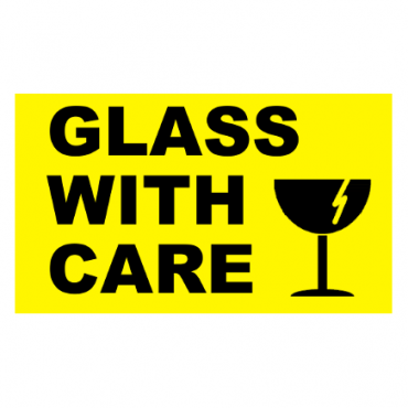 GLASS WITH CARE Pallet Labels