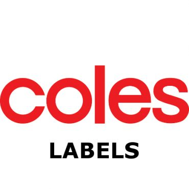 Coles Crate Labels – 80 x 85mm – White