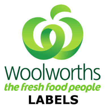 Woolworths Crate Labels – 40 x 140mm – White