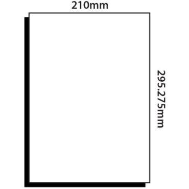 1 Label per sheet – 210mm x 295mm Back Slit