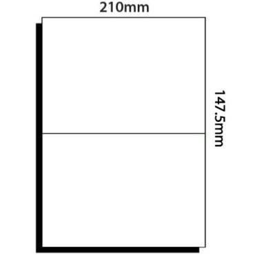 2 Labels per sheet – 210mm x 147.5mm