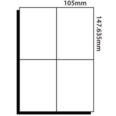 4 Labels per sheet – 105mm x 147.5mm