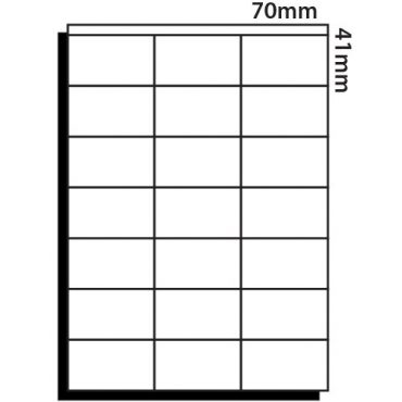 21 Labels per sheet – 70mm x 41mm
