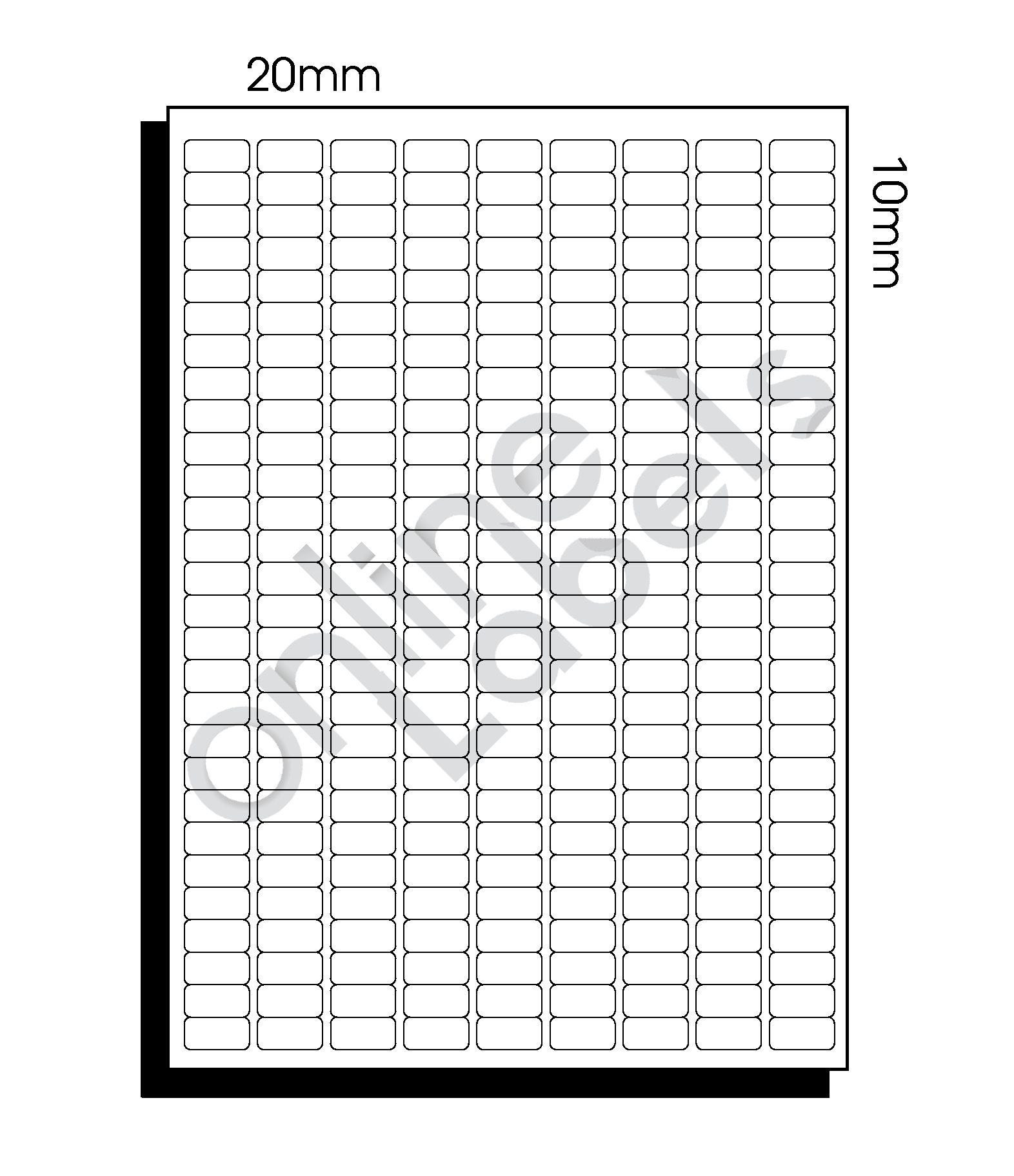 20mm x 10mm (062) – 252 Labels per Sheet