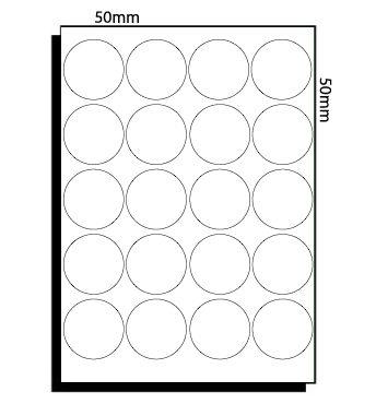 50mm dia (069) – 20 Labels per Sheet