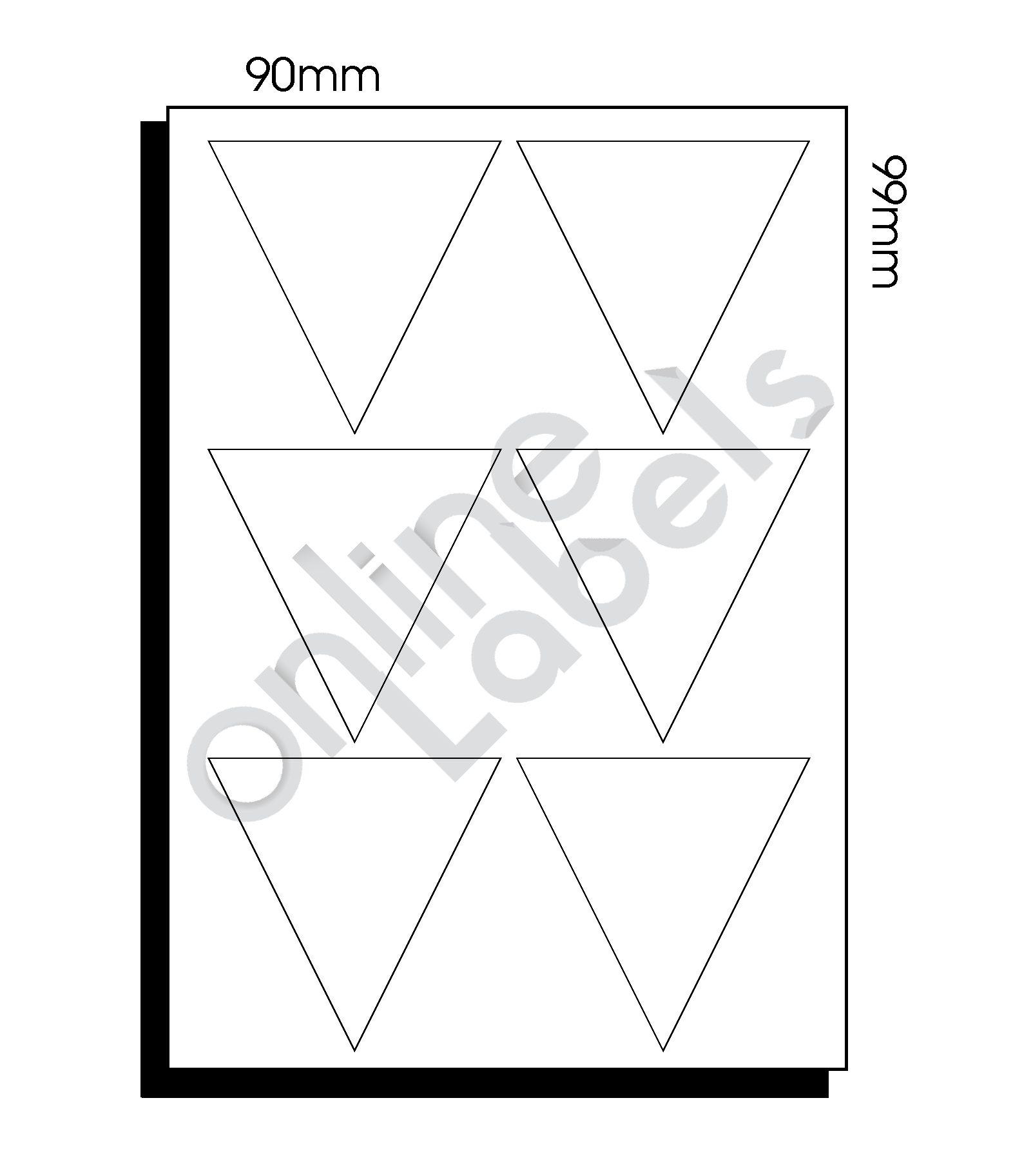 90mm x 99mm x 99mm (085) – 6 Labels per Sheet