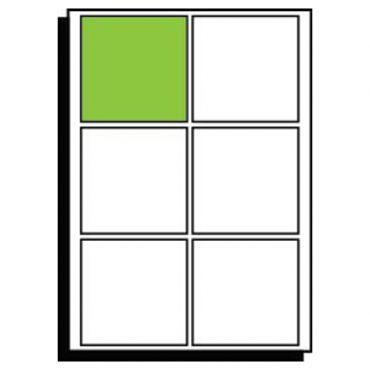 A3 Diecut Labels – 130mm x 130mm Square