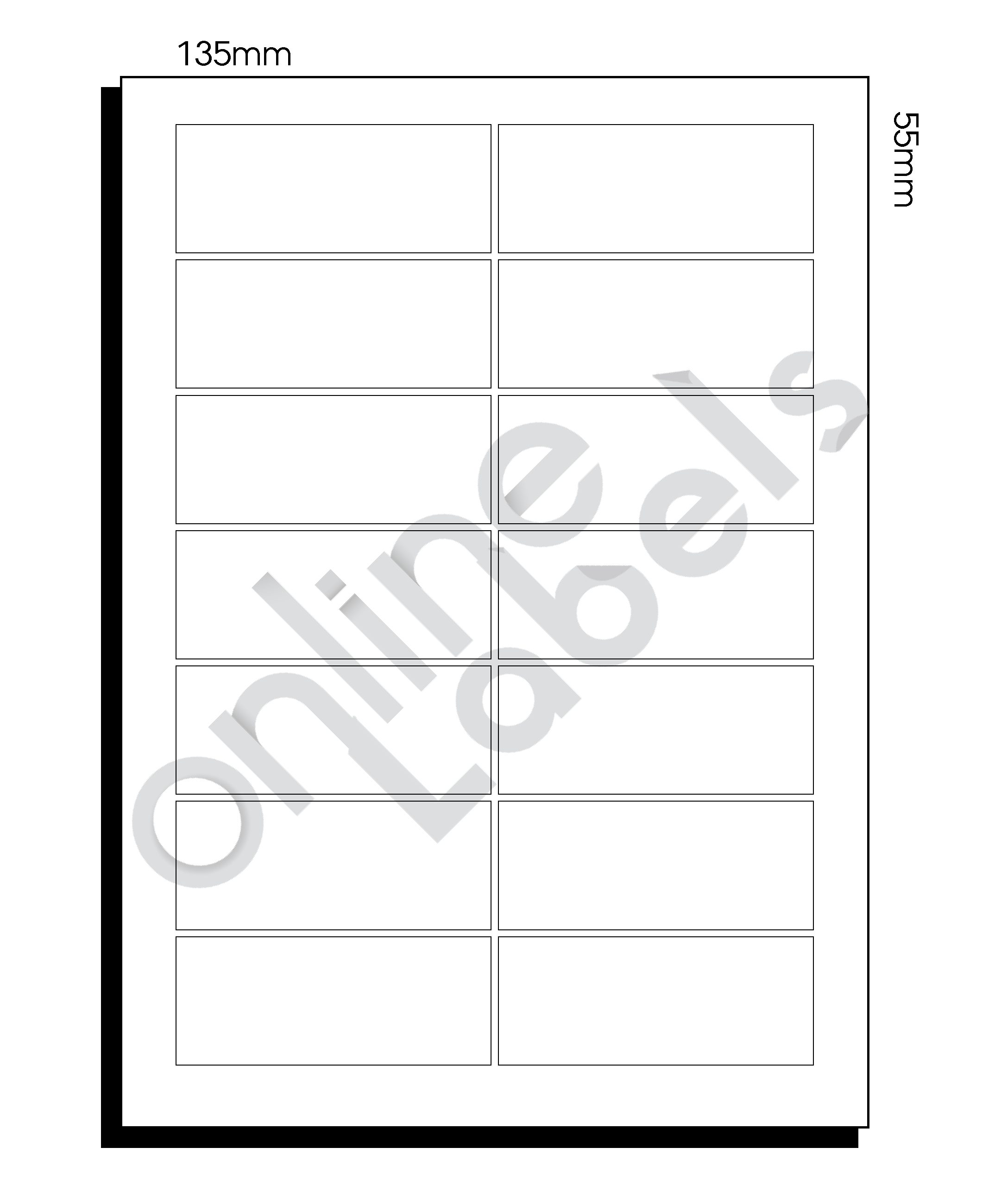SR-A3 Diecut Labels – 135mm x 55mm