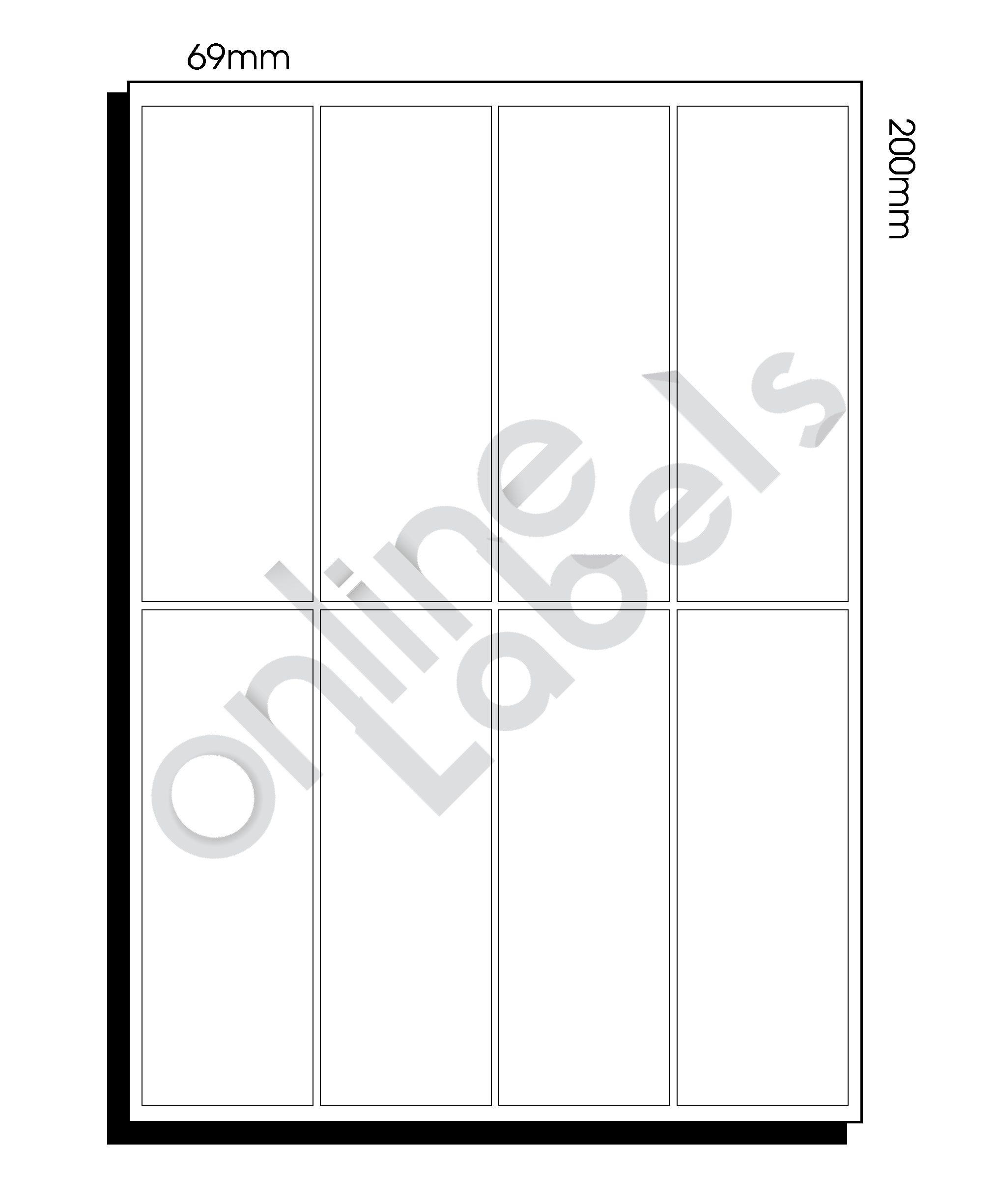 A3 Diecut Labels – 200mm x 69mm