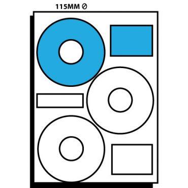 3 Labels per Sheet – 115mm dia CD Labels