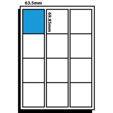 12 Labels per Sheet – 63.5mm x 69.9mm Floppy Disk Labels