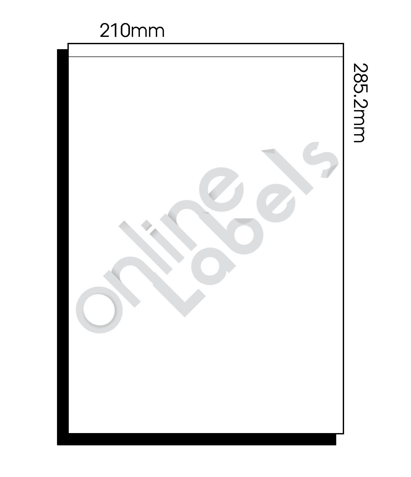 210mm x 285.2mm (002) – 1 Label per Sheet