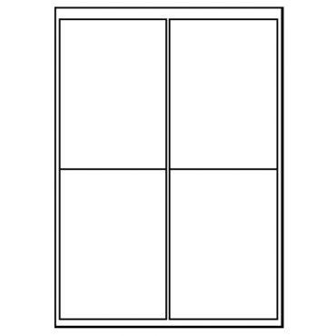 4 Labels per Sheet – 99.1mm x 139mm (123)