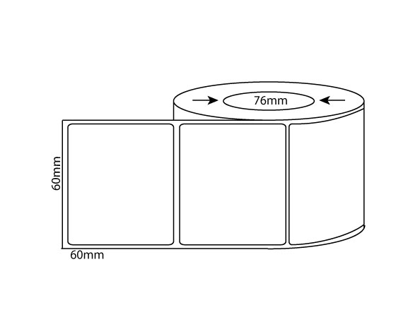 60mm x 60mm – Thermal Direct & Thermal Transfer