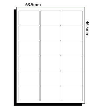 63.5mm x 46.5mm (042) – 18 Labels per Sheet